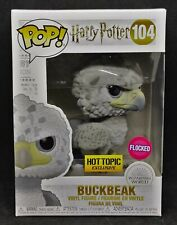 Funko Pop! Harry Potter Flocked Buckbeak (Black Eyes) #104 Hot Topic Exclusive