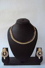 Designer Indian Bollywood Ethnic Fashion Pearl Kundan Jewelry Party Necklace Set