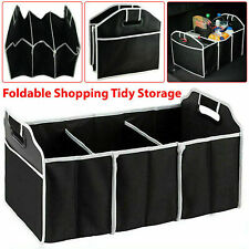 2 IN 1 COLLAPSIBLE CAR BOOT ORGANISER FOLDABLE TRAVEL TIDY TRUNK STORAGE BAG BOX