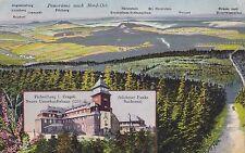 Farb - AK Fichtelberghaus, Panorama nach Nord-Ost, Oberwiesenthal ungelaufen