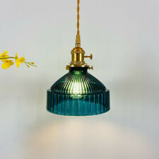 Dark Green Adjustable Glass Pendant Ceiling Lights Brass Kitchen Hanging Lamp