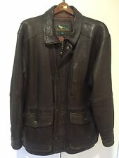 @Rare+Field&Stream vintage lambskin Leather jacket,quilted lined,winter coat,L@