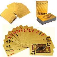 Luxury Golden Playing Cards Foil Poker Waterproof Playing Cards for Poker Deck