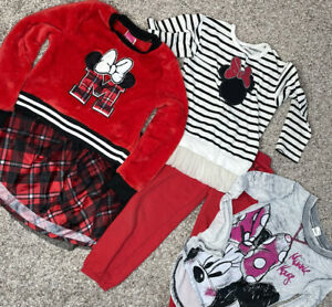disney girls clothes minnie mouse mickey Lot Of 5  Sizes 5T 6