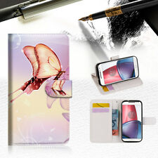 Dream Butterfly Wallet TPU Case Cover For  Motorola Moto X Force- A010