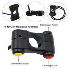 "12V 7/8"" Switch 3-Buttons Motorcycle Handlebar Bike ATV Headlight Horn 22mm Set"