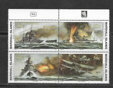 MARSHALL Islands 1991  WWII Air/Sea block of 4 MINT NH
