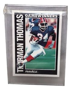 1991 Pinnacle Football Card #363 Thurman Thomas MINT