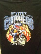 T Rex Kansas City Dexter's Choppers black mens t shirt Large motorcycle chopper