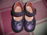 Falcotto Toddler Girl Purple Leather Shoes/ Ankle Support/ Quality/ Size 22/ 5.5
