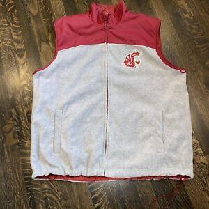 Washington State Cougars Vest Reversible Jacket GIII Carl Banks WSU Mens LARGE