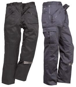 Portwest S887 Action Cargo Work Trousers   Kneepad Pocket   Multi Pocket