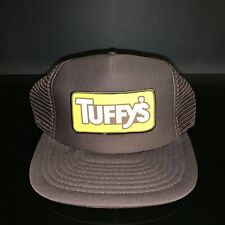 "AWESOME! Tuffy's 1970s DogFood Brand Snap Back Cap Brown 4"" Patch Old Pet Store"