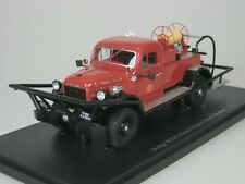 Dodge Wdx Power Wagon Brush Braker Fire 1946 Usa 1/43 Autocult 11004 1-333