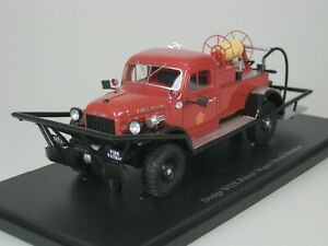 DODGE WDX POWER WAGON BRUSH BRAKER FEUERWEHR 1946 USA 1/43 AUTOCULT 11004 1-333