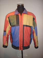 Vintage 80s 90s Multi Colored Patchwork Leather J Walden Jacket Size Large RETRO