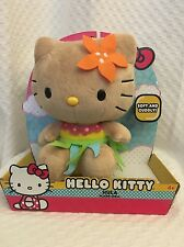 New Hello Kitty Plush Hawaiian Tan Luau Hula Tropical Orange Plush 2013 10""