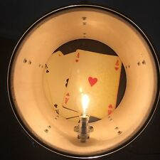 Upcycled Repurposed Tom Drum Floor Light / Lamp - Playing Cards Design