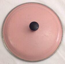 "Vtg Club Aluminum Pink 7.5"" Sauce Pan Lid"
