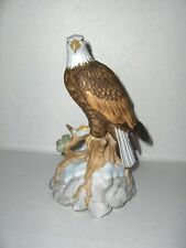 Vintage San Francisco Music Box Ceramic American Eagle On Rock Born Free Nice