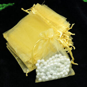 50PCS/Lot Organza Bags Jewelry Packaging Bags Wedding Party Decoration Hot Sale