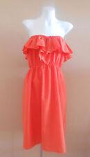 Knee Length Cotton Blend Strapless Dresses for Women