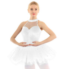 Adult Women's Ballet Tutu Skirts Sequins Ballet Dance Dresses Ballerina Costumes