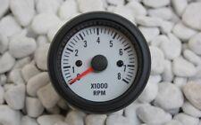 DREHZAHLMESSER DZM ANZEIGE INSTRUMENT WEISS 52mm 0-8000 UPM 2-8 ZYL. OLDSCHOOL