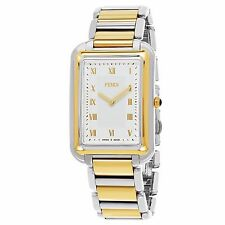 Fendi Men's Classico Rectangle Stainless Steel Swiss Quartz Watch F701114000