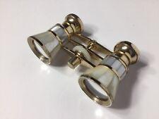 Vintage TASCO Japan 3 X 23 Opera Glasses/Binoculars Gold Mother Of Pearl