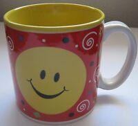 Smiley Face Coffee Mug 2005 Burton + Burton Tea Cup Yellow Red Ceramic Happy