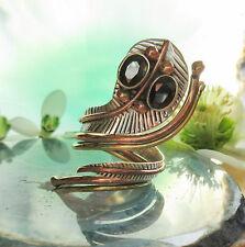 Anillo Cobra Culebra Plata Esterlina 925 piedra ónix negro armadura DOS COLORES