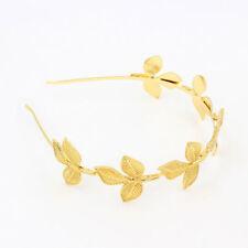 Haarband Haarkette Glänzende Golden Blätter Stirnband Kopfbedeckung Haarreif