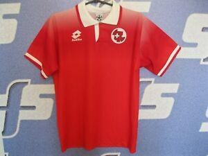 Switzerland team 1996/1997/1998 home Size XS/S Lotto shirt jersey Swiss soccer
