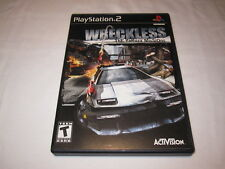 Wreckless: The Yakuza Missions (Playstation PS2) Black Label Complete Nr Mint~
