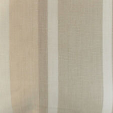 Set of 4 Laura Ashley 9 inch x 9 inch fabric off cuts - Awning Stripe Natural