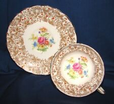 Rosina Cup & Saucer w/ Rose Bouquet