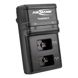 ANSMANN 9V Ladegerät für E-Block Akkus NiMH automatische Abschaltung