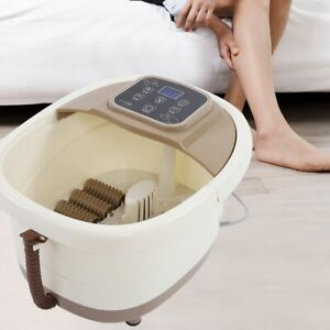 Spa Bath Foot Infrared Massager Roller Heat Vibration Bubbles Water Pedicure 4L