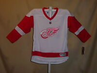 DETROIT RED WINGS replica style REEBOK JERSEY Youth Large/XL NWT  $65 retail  w