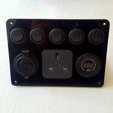 12v switch panel with 240v socket VW camper, Race van, Horse box, Boat