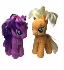 "My Little Pony Lot of 2 Plush Twilight Sparkle 7""and Apple Jack 7"""