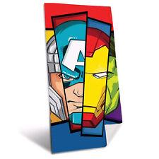 Toalla de Playa Esponja Algodón Marvel Avengers Para Piscina Niño Héroes 2700