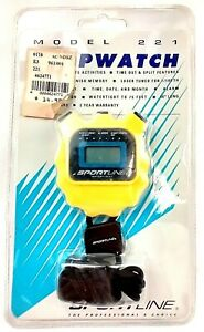Sportline Model 221 Stopwatch Lap Time Watertight Lanyard