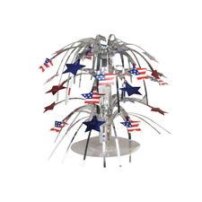Estrellas y Rayas Bandera de Eeuu Cascada Centro de Mesa Decoración Rojo