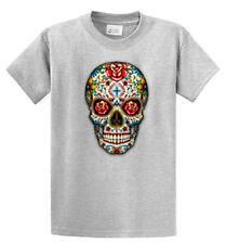 Sugar Skull Goth Fantasy Mens Graphic Printed T Shirts Reg & Big and Tall Sizes