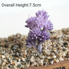 Artificial Succulents Fake Plants Plastic Home Garden Decoration Flocking Bonsai