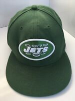 NEW ERA 59FIFTY NFL Authentic New York Jets Cap Hat Fitted Size 7 3/4 Green
