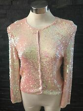 Butler And Wilson Sequin QVC Cardigan In Pink Size 12 New With Tags