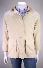 LORO PIANA Beige Nylon 'Horsey' Barn Jacket w/ Leather Collar~ Small